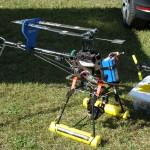 aerial photography helicopter setup
