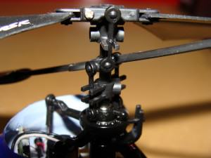 Eflite Blade mSR Helicopter Rotor Head Closeup