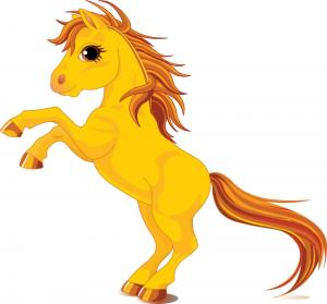 Royalty-Free (RF) Clipart Illustration of a Rearing Yellow HorseRoyalty-Free (RF) Clipart Illustration of a Rearing Yellow Horse