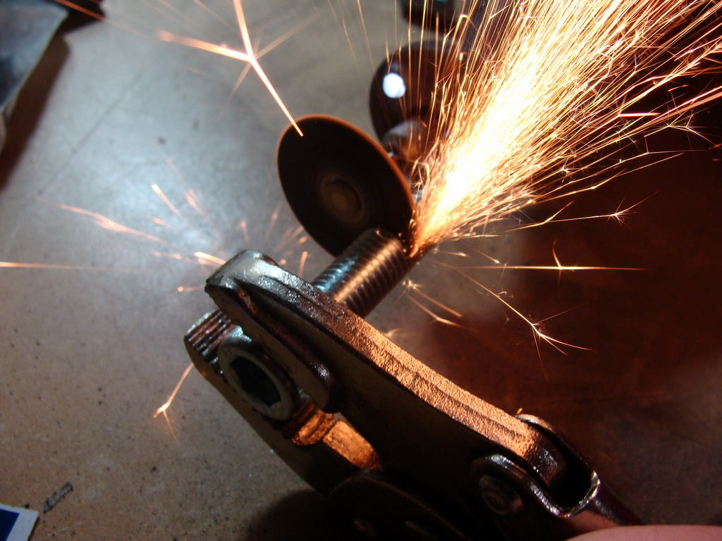 Cut down the bolts and make some metal sparks!