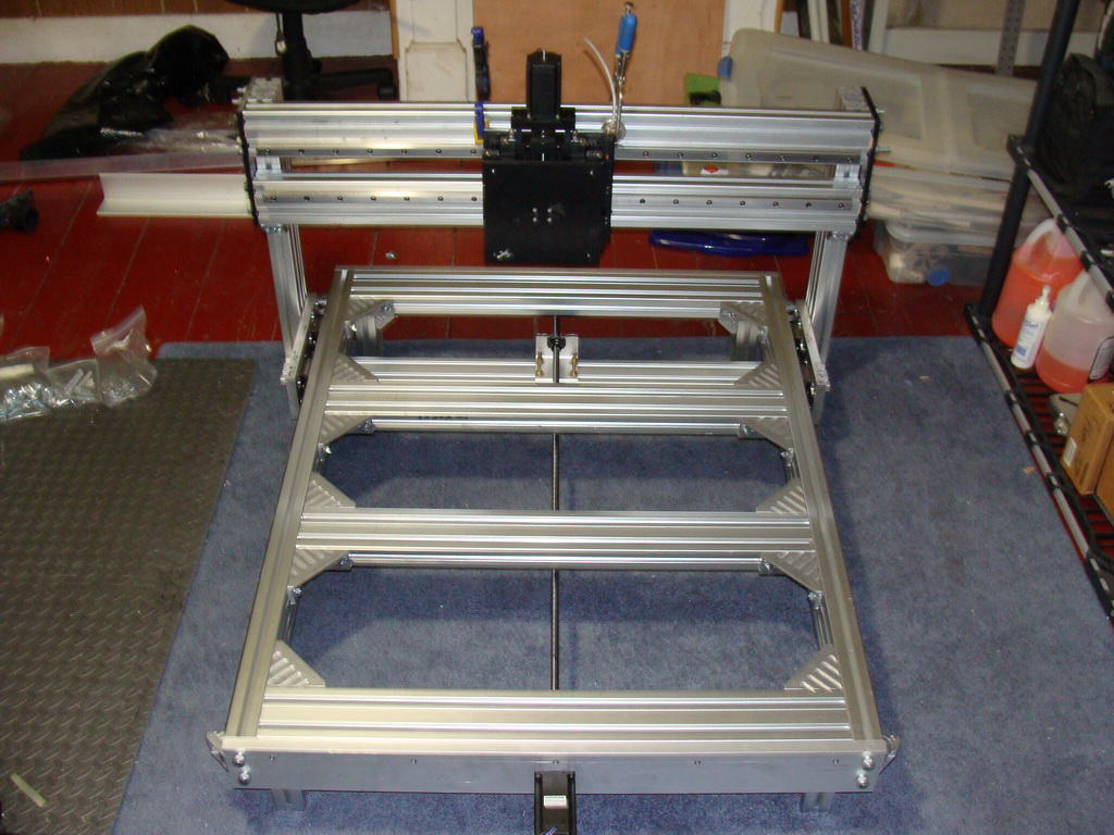 DIY CNC Router Progress Overall View