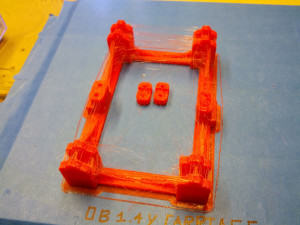 OB 1.4 3D Printer Y-Carriage Completed in stringy PLA