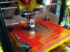 OB14 3D Printer Printing New Parts for Second Printer