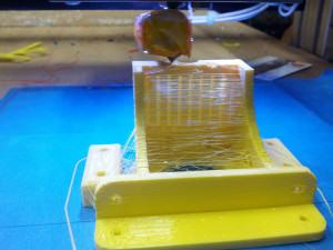 RepRap OpenBeam 1.4 DIY 3D Printer Z Motor Mount printing in PLA