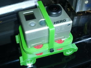3D Printed Downward Facing GoPro Camera Mount F550