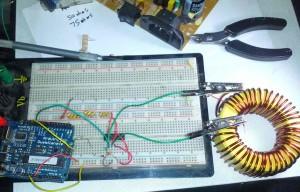 Arduino-inductance-test-setup